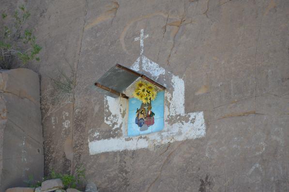 Roadside shrines entering Comondu