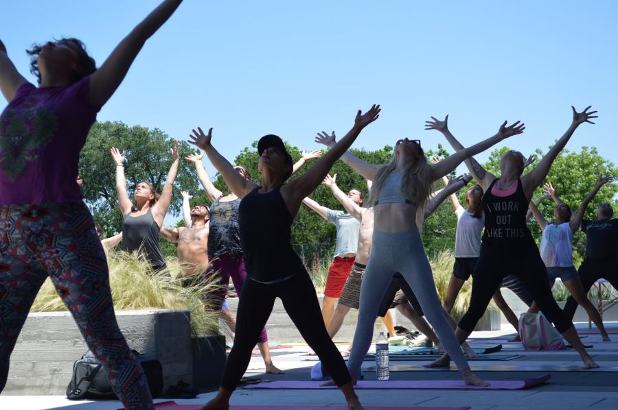 Baja Surf Yoga class in star pose