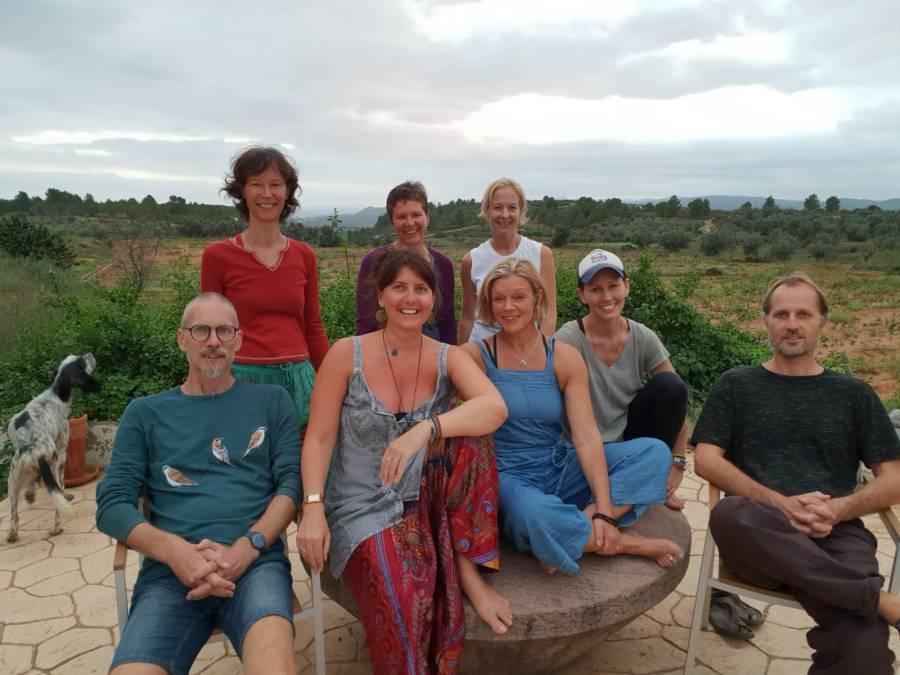 yoga retreat group photo